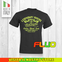 T SHIRT MAGLIA FLUO 4 BIKER MOTO CYCLE CHOPPERS MOTOR VINTAGE OLD UOMO DONNA
