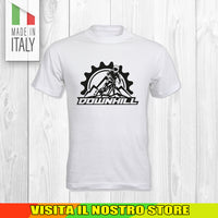 T SHIRT MAGLIA BIKE DOWNHILL BIKER 8 CYCLE MTB BICI IDEA REGALO UOMO DONNA