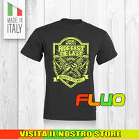 T SHIRT MAGLIA FLUO 7 BIKER MOTO CYCLE CHOPPERS MOTOR VINTAGE OLD UOMO DONNA