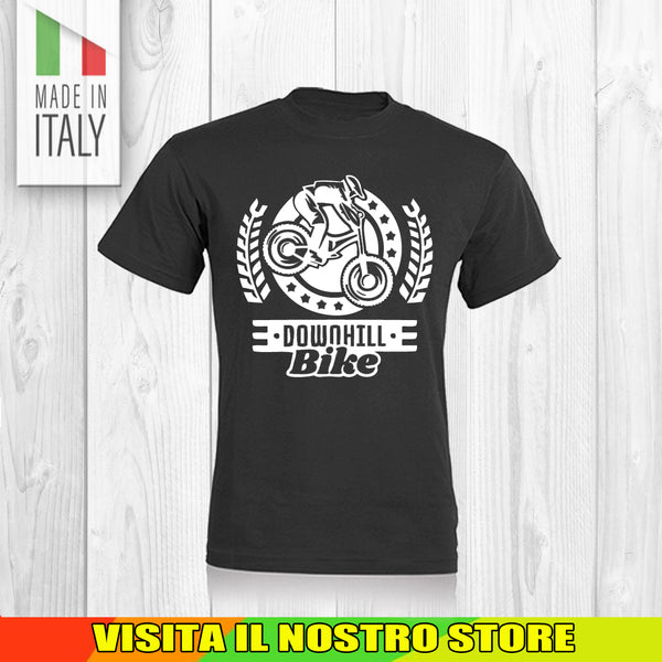 T SHIRT MAGLIA BIKE DOWNHILL BIKER 10 CYCLE MTB BICI IDEA REGALO UOMO DONNA