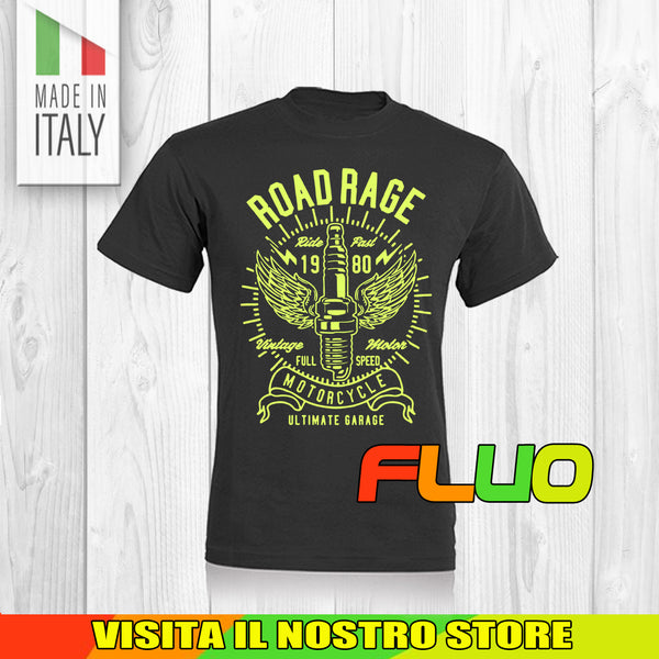 T SHIRT MAGLIA FLUO 9 BIKER MOTO CYCLE CHOPPERS MOTOR VINTAGE OLD UOMO DONNA