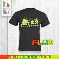 T SHIRT MAGLIA FLUO BIKE DOWNHILL BIKER 15 CYCLE MTB BICI IDEA REGALO UOMO DONNA