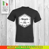 T SHIRT MAGLIA BIKE DOWNHILL BIKER 1 CYCLE MTB BICI IDEA REGALO UOMO DONNA