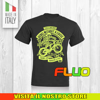 T SHIRT MAGLIA FLUO BIKE DOWNHILL BIKER 6 CYCLE MTB BICI IDEA REGALO UOMO DONNA