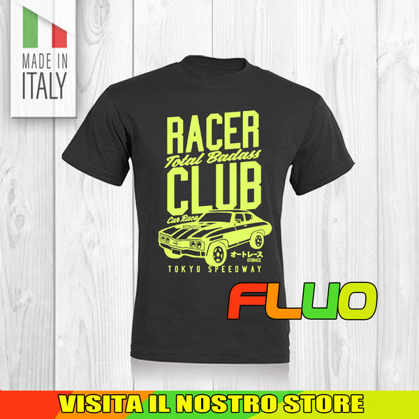 T SHIRT MAGLIA 1 CAR AUTO RACE TUNING RACER MOTOR VINTAGE OLD FLUO UOMO DONNA