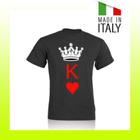 T-SHIRT HAPPINESS RE DI CUORI - UNISEX