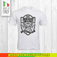 T SHIRT MAGLIA 8 BIKER MOTO CYCLE CHOPPERS MOTOR VINTAGE OLD UOMO DONNA