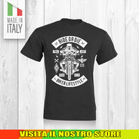 T SHIRT MAGLIA 9 BIKER MOTO CYCLE CHOPPERS MOTOR VINTAGE OLD UOMO DONNA