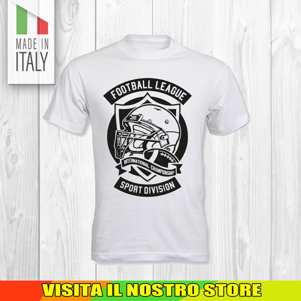 T SHIRT MAGLIA FOOTBALL 2 AMERICANO RUGBY SPORT TRAIN GYM NO PAIN UOMO DONNA