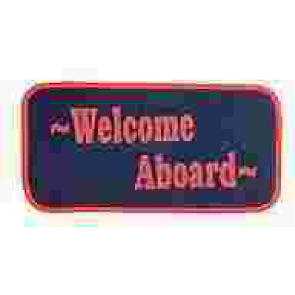 Matworks Red & Navy Welcome aboard Mat