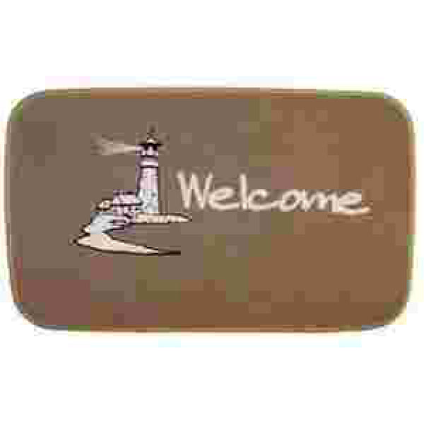 Matworks Tan Lighthouse Welcome aboard Mat