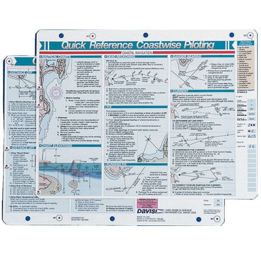 Davis Coastwise Plotting Reference Card