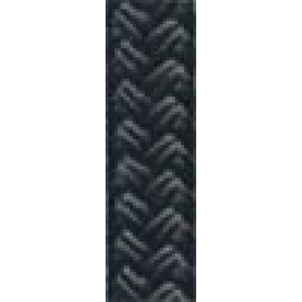 "1/2"" Solid Black Dacron Yacht Braid (sold per foot"