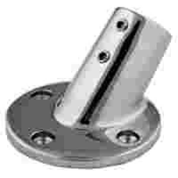 "1"" Stainless Steel 45D Round Base"
