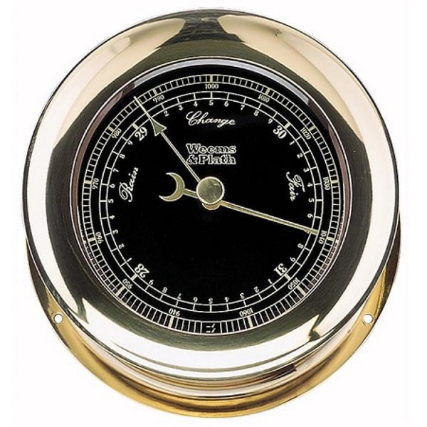 Weems & Plath Atlantis Barometer With Black Dial