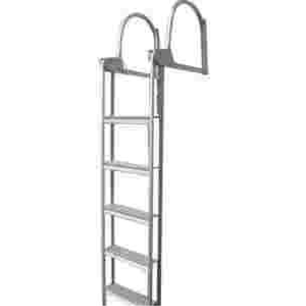 Dockedge Slide up Ladder 5-Step Welded Aluminum