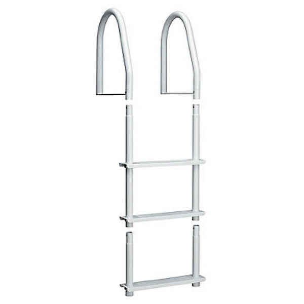 Galvalume Fixed Bright White 3-Step Ladder