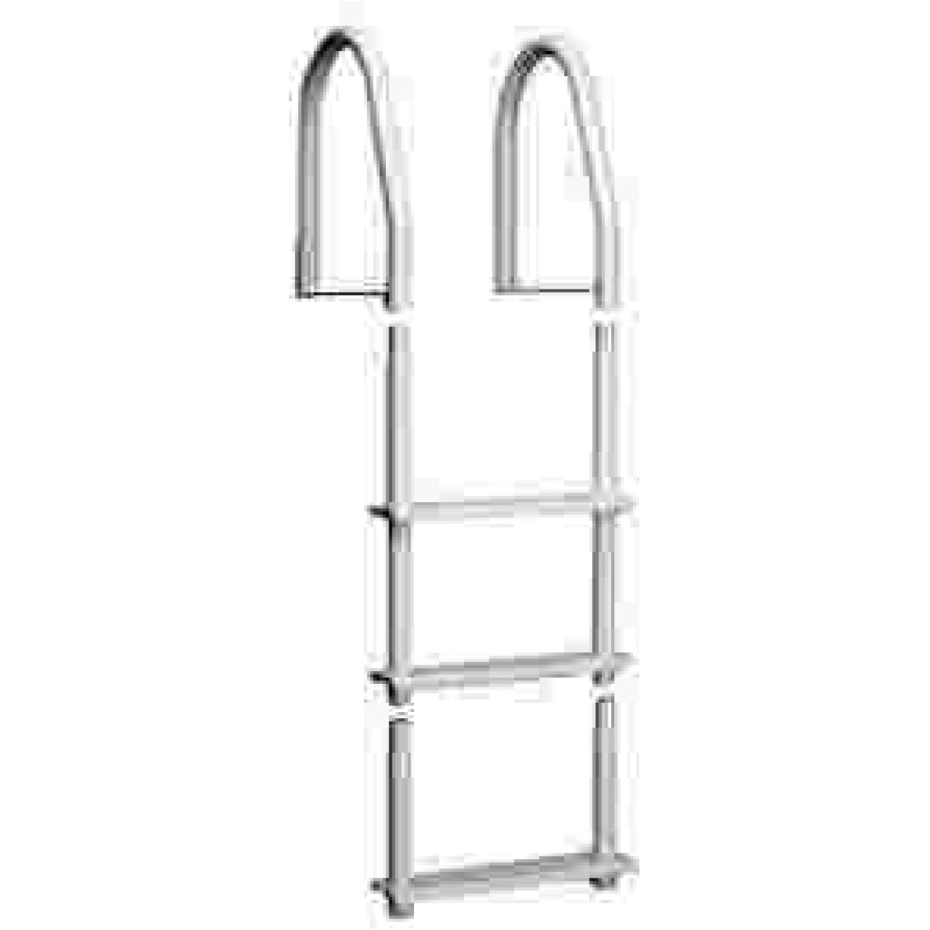 Galvalume Bright White Fixed 5-Step Ladder