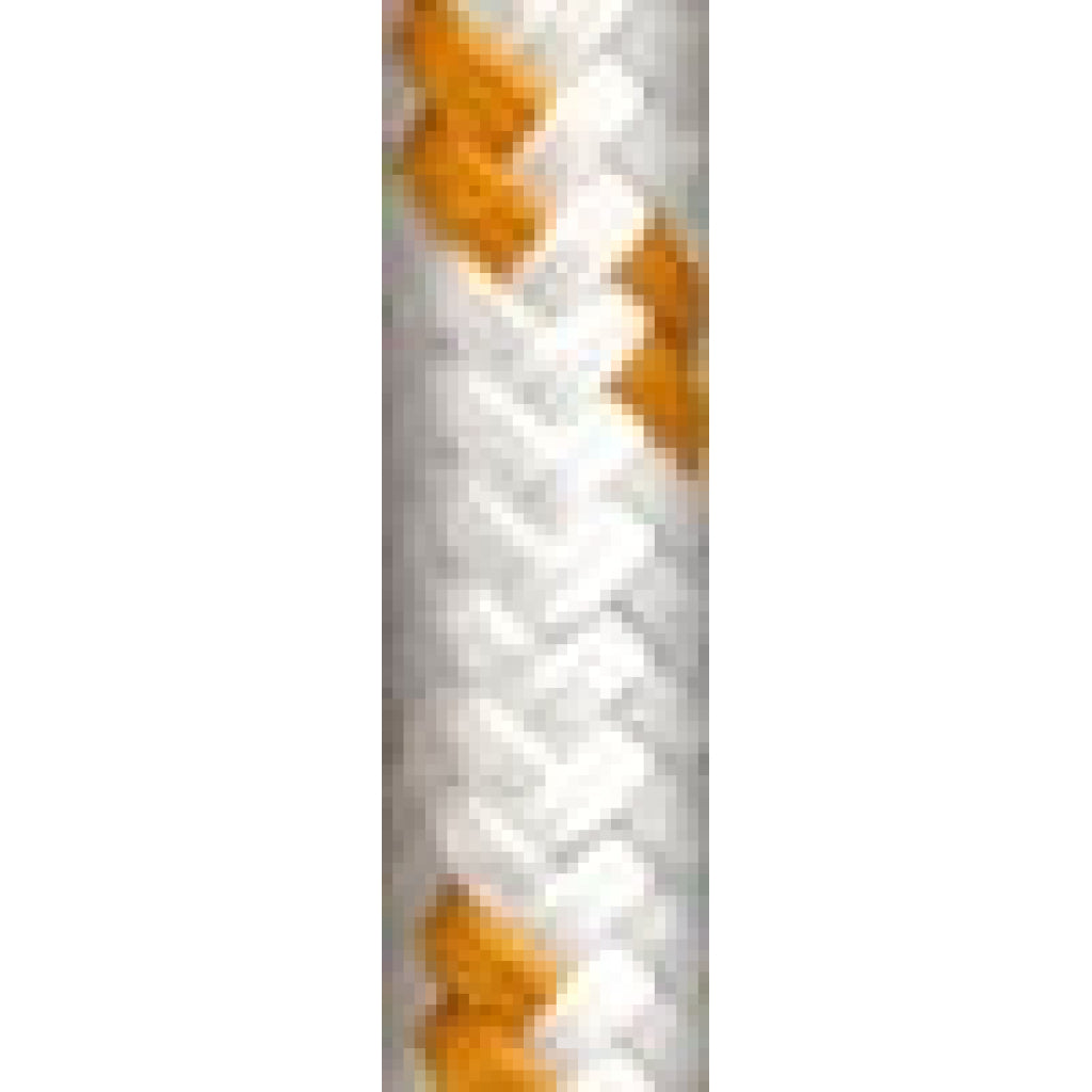 "3/8"" White w/Gold Trace Yacht Braid (per foot)"