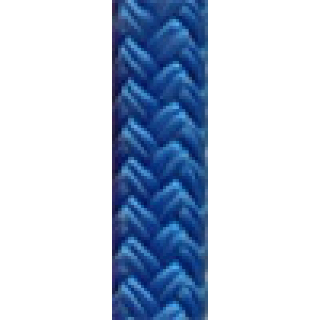 "3/8"" Nylon Braid Blue (per foot)"