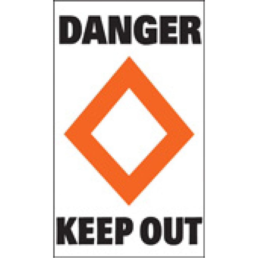 Taylor Danger Keep Out Label (pair)