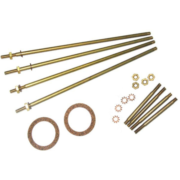 Perko 4 Brass Tie Rods with Nuts and Washers