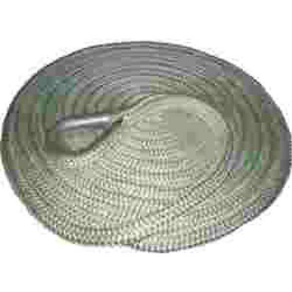 "5/8"" x 25' White Soft Eye Braided Dock Line"