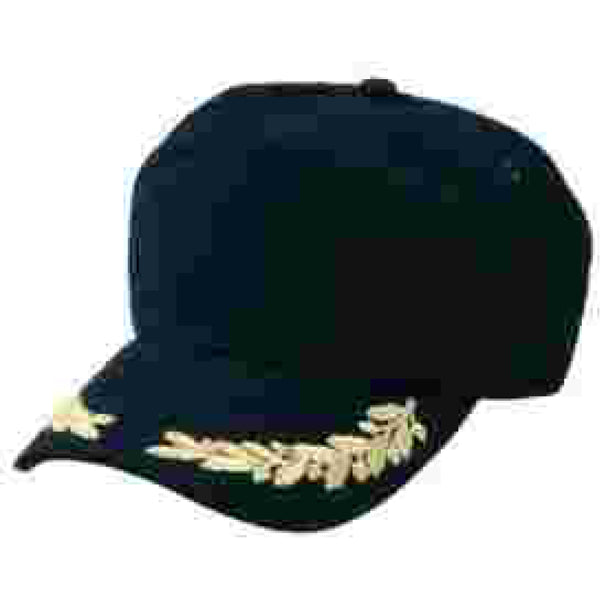 Gold Oak Leaf Embroidered Yacht Cap