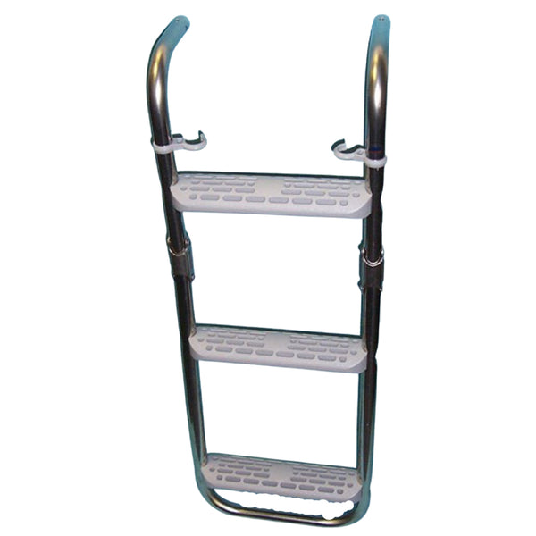3 Step Stainless Steel Folding Ladder