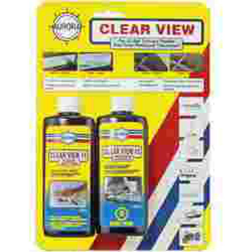 2 Part Clear View Plastic Cleaner