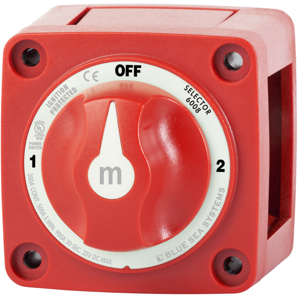Blue Sea Red m-Series Selector Battery Switch