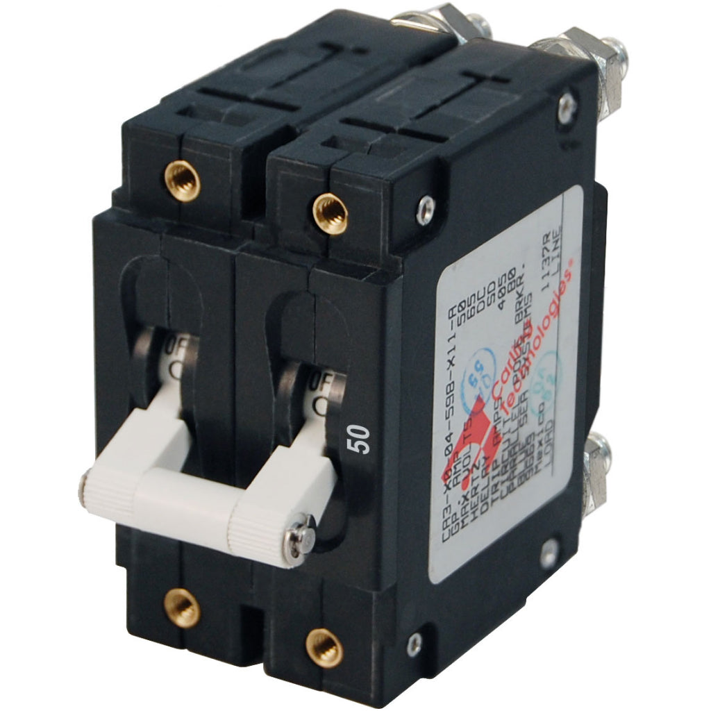 Blue Sea 50A White C-Series Circuit Breaker