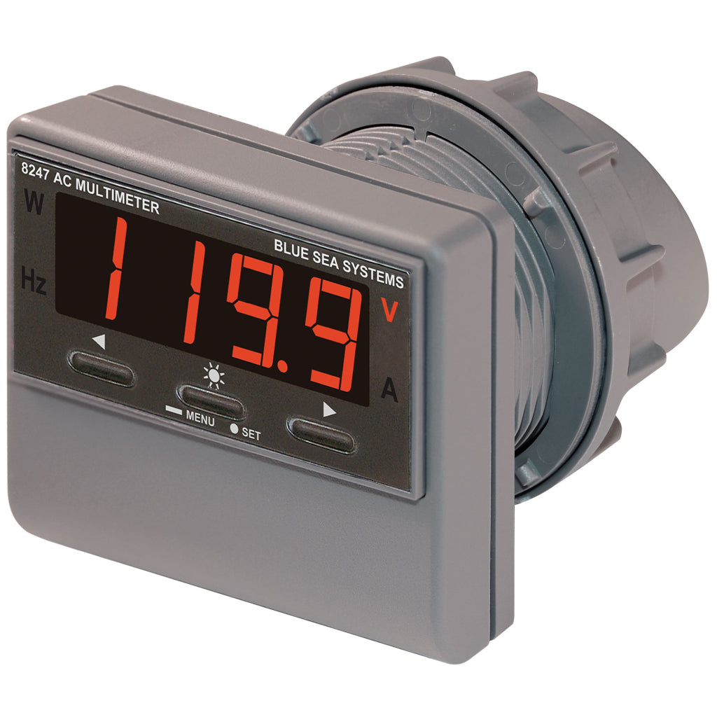 Blue Sea 8247 AC Digital Multi-Func. Meter w/Alarm