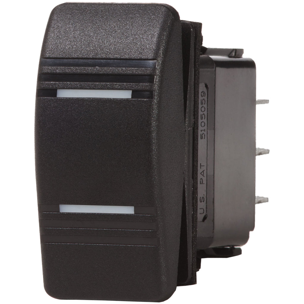Blue Sea 8286 Contura Switch DPDT Black ON-OFF-ON