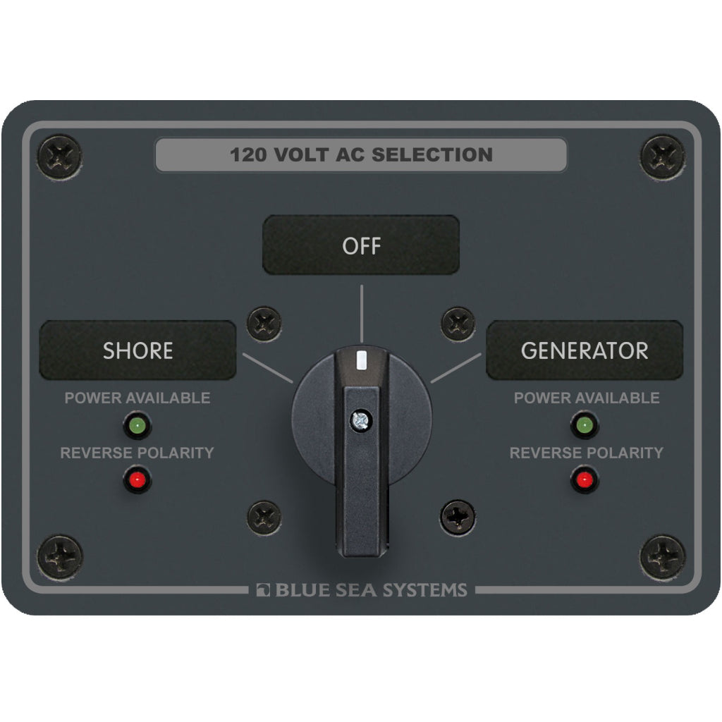 Blue Sea AC Panel 30A 2 pos. + OFF Rotary Switch