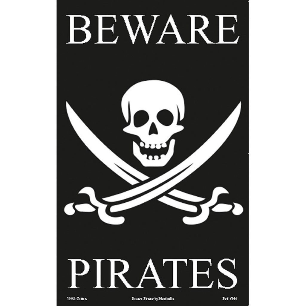 Beware Pirates Tea Towel