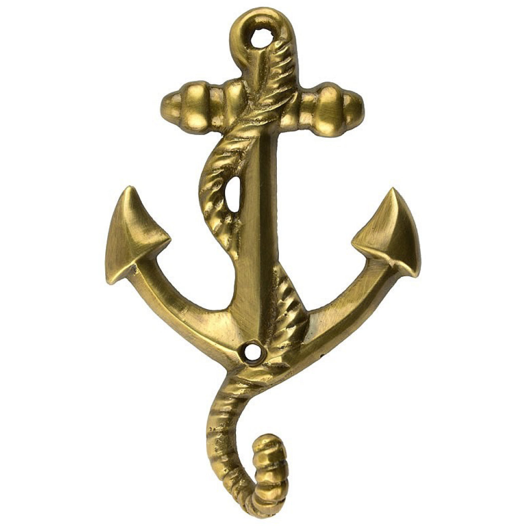 Brass Anchor w/Rope Hook.