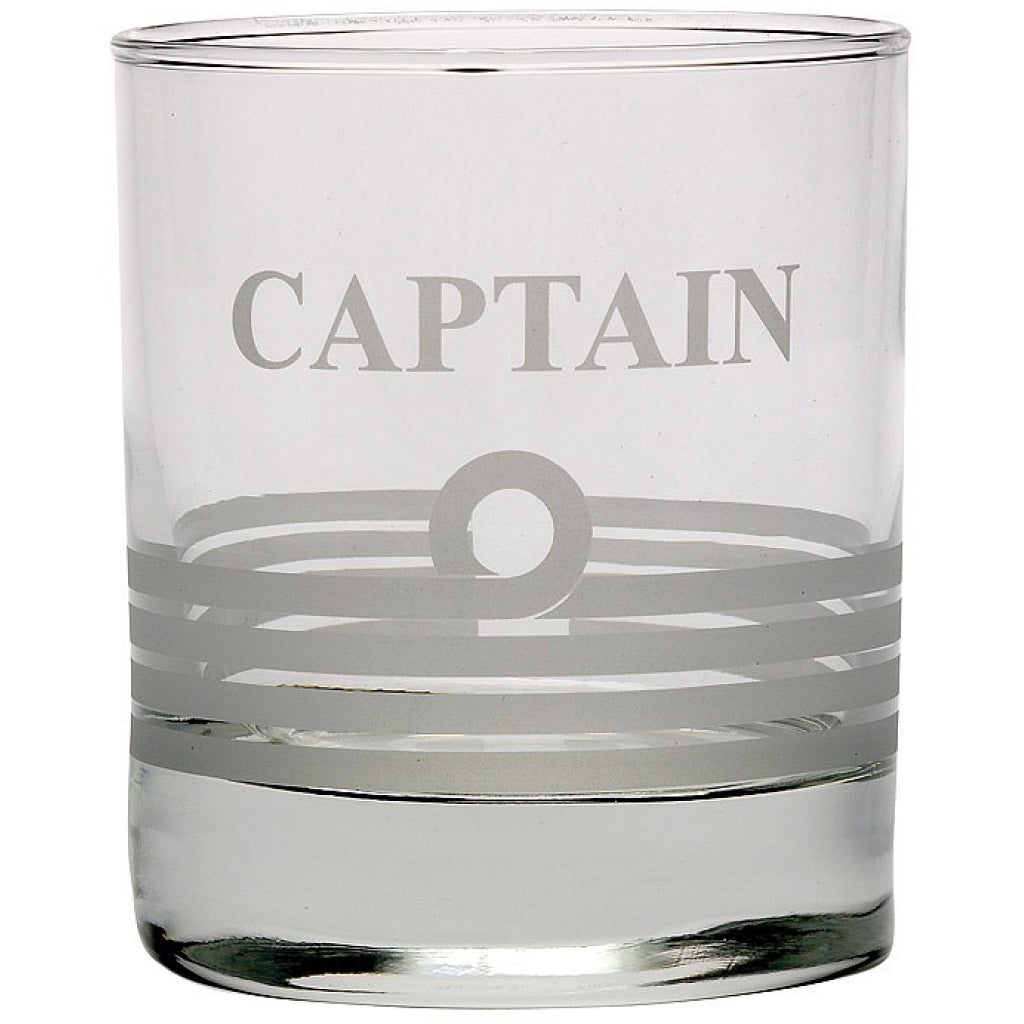 'Captain' Glass Whiskey Tumble.