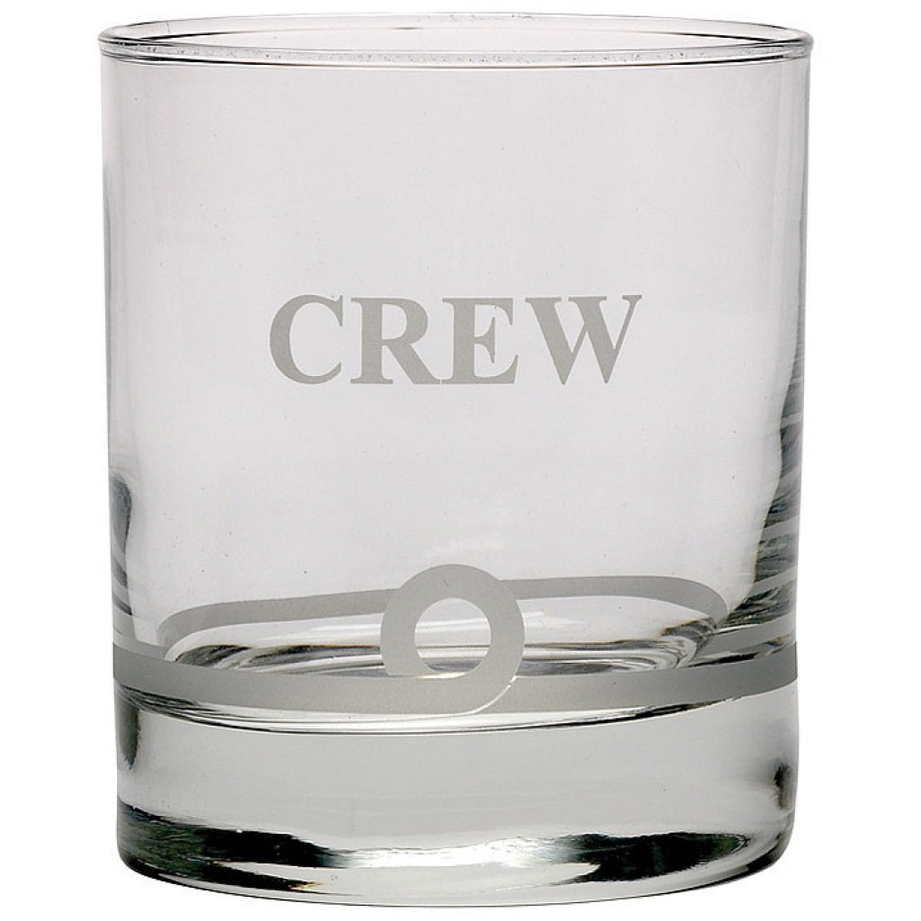 'Crew' Glass Whiskey Tumbler.