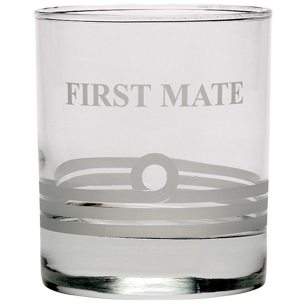 'First Mate' Whiskey Tumbler.