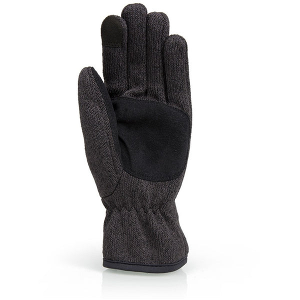 Front of Gill Graphite Knit Fleece Gloves.