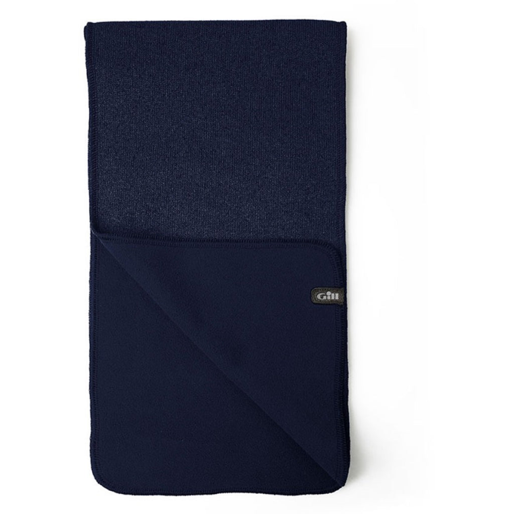 Navy of Gill Knit Fleece Scarf.
