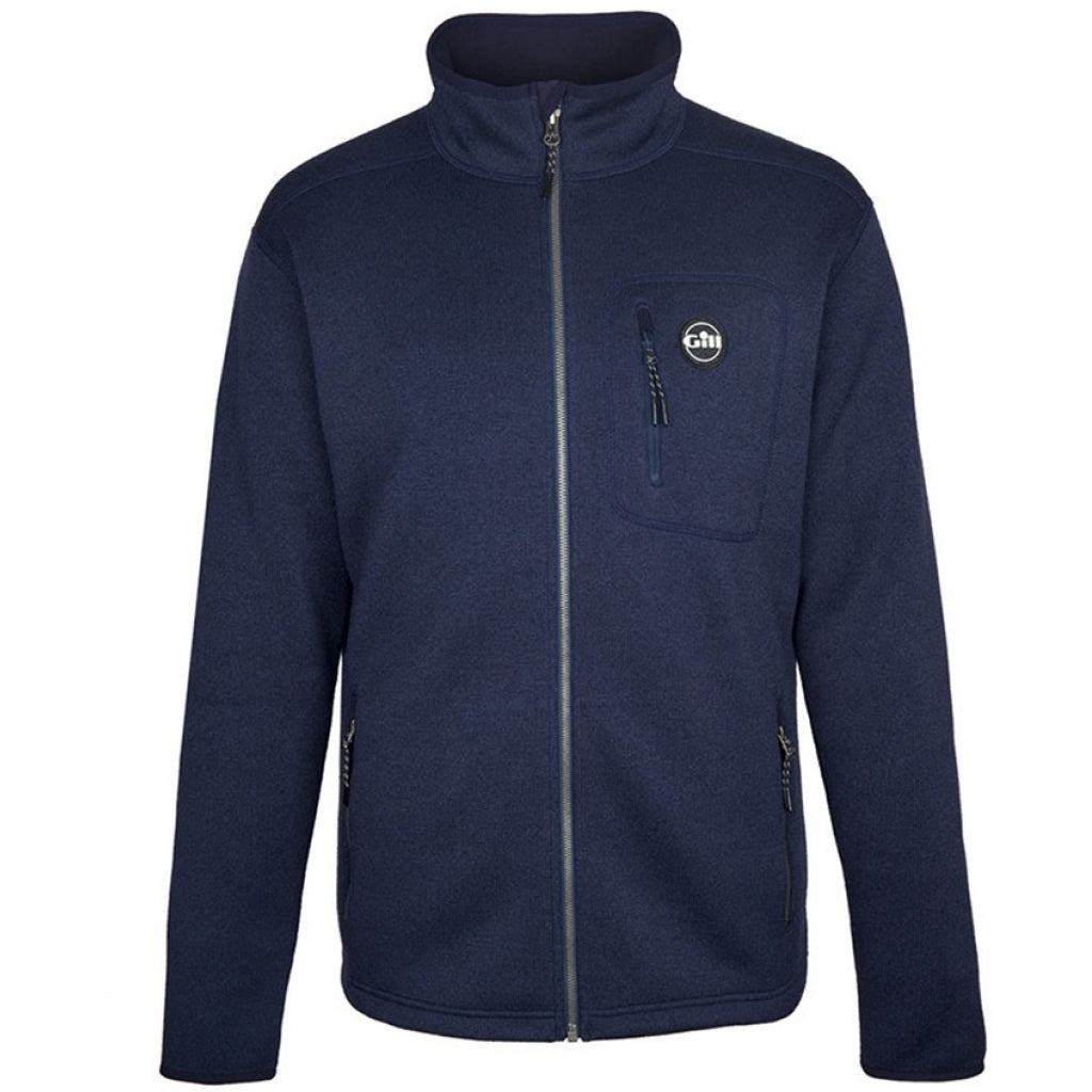 Gill Men's Navy Knit Fleece Jacket
