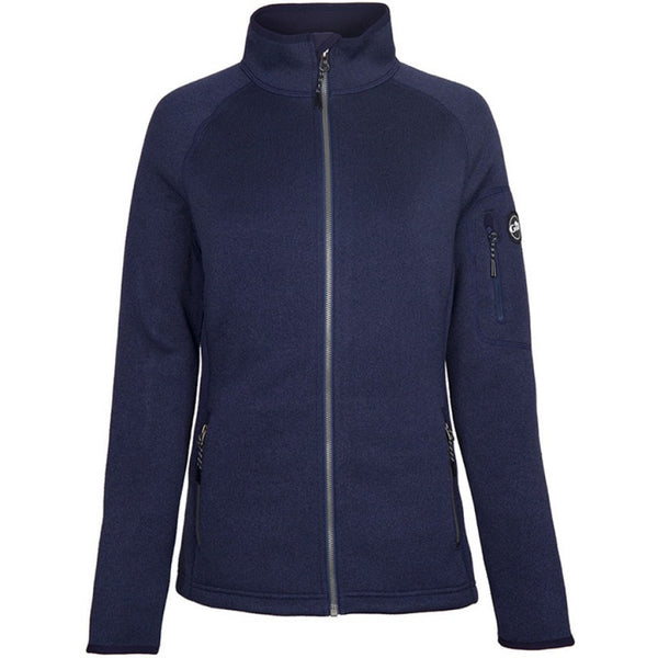 Navy of Gill Women's Knit Fleece Jacket.