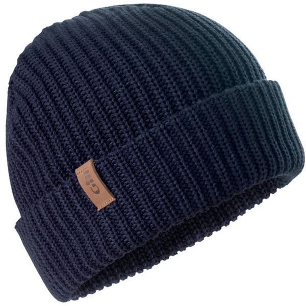 Navy of  Gill Floating Knit Beanie.