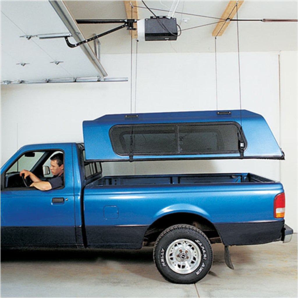 Hoister Storage Systems lifting pickup cab