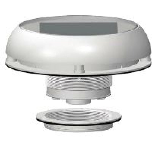 "4"" Day/Night Stainless Steel Solar Vent"