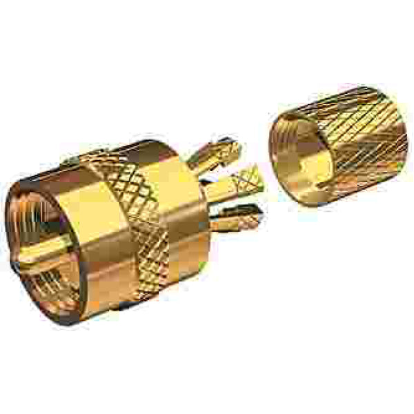 Centerpin Solderless Gold Plated PlL-259 Connector