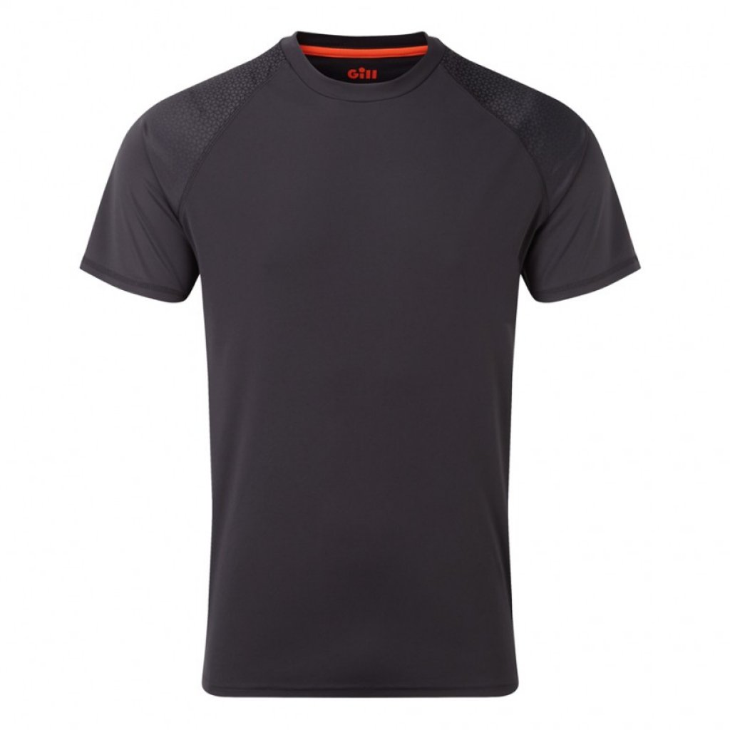 Men's Uv Tech Fade T-Shirt Charcoal.