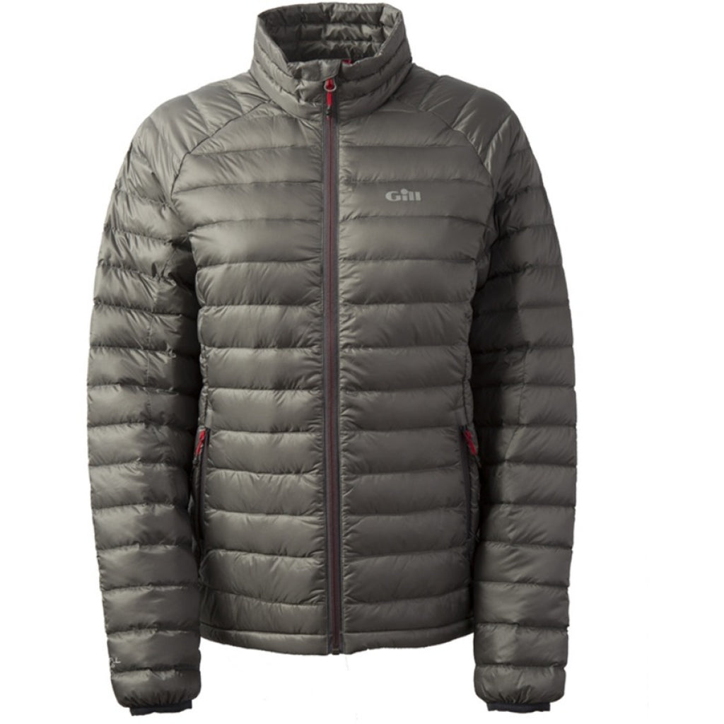 Gill Womens Hydrophobe Charcoal Down Jacket.